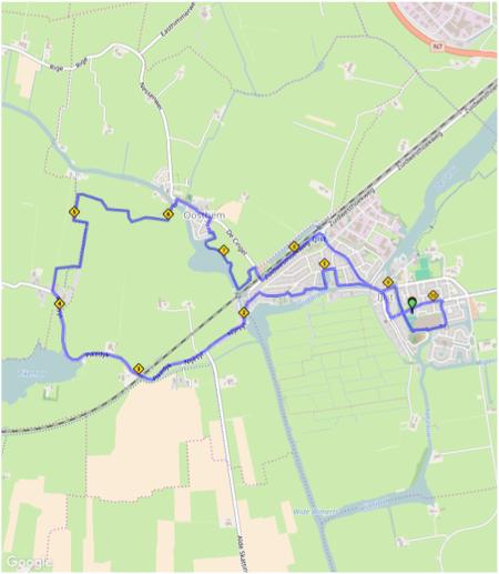 Lus 10 km kaart